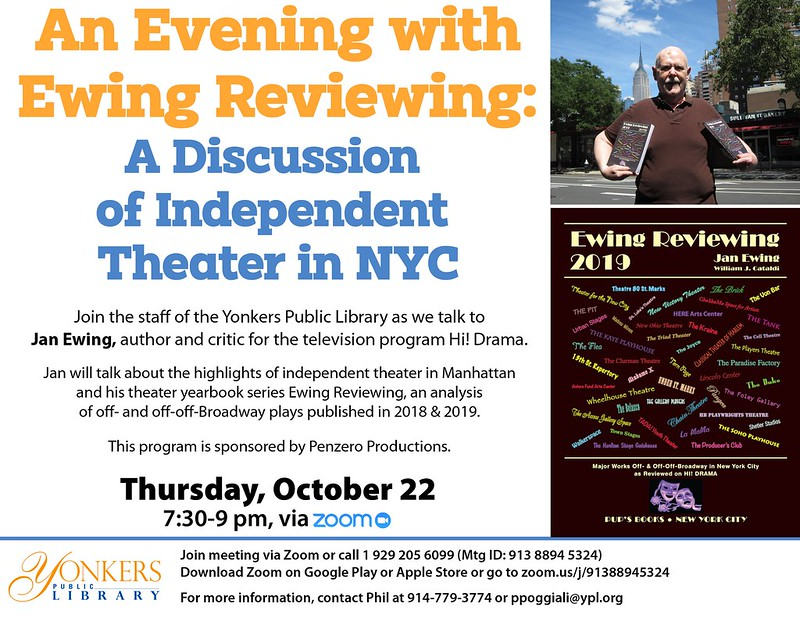 An Evening with Ewing Reviewing: A Discussion of Independent Theater in NYC image
