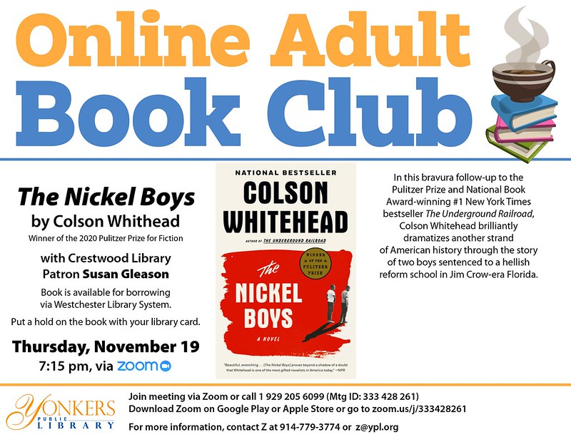 Adult Online Book Club: The Nickel Boys: a novel image