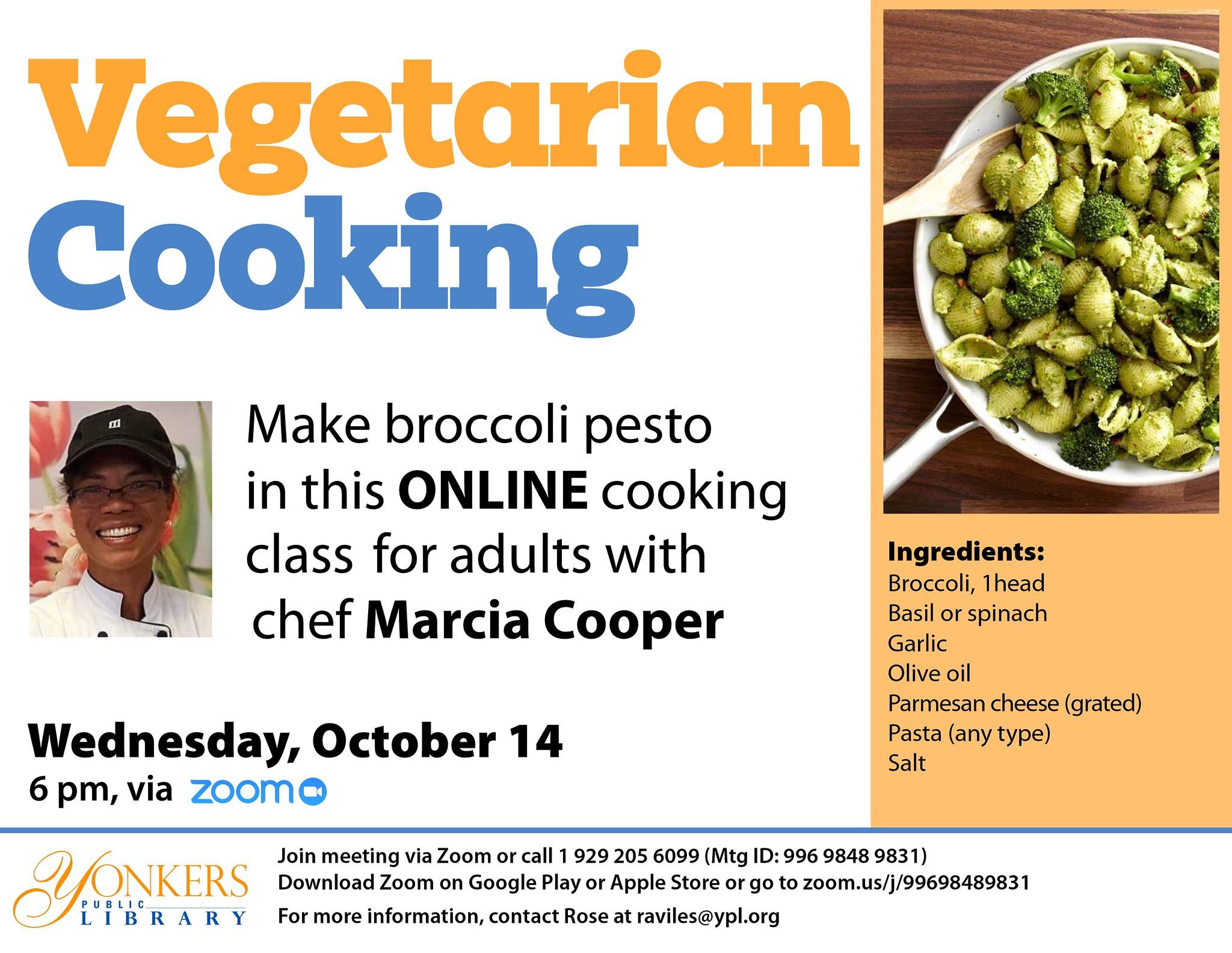 Vegetarian Cooking Class with Chef Marcia Cooper image