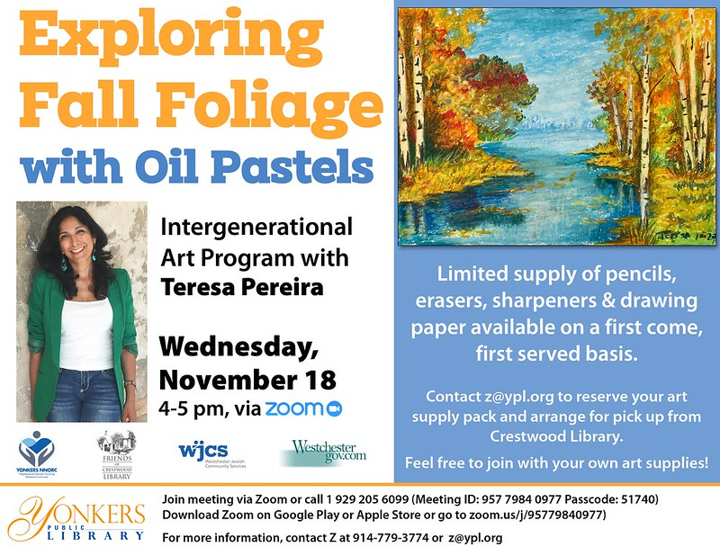 Intergenerational Art Program ExploringFall Foliage with Oil Pastels with Teresa Pereira image