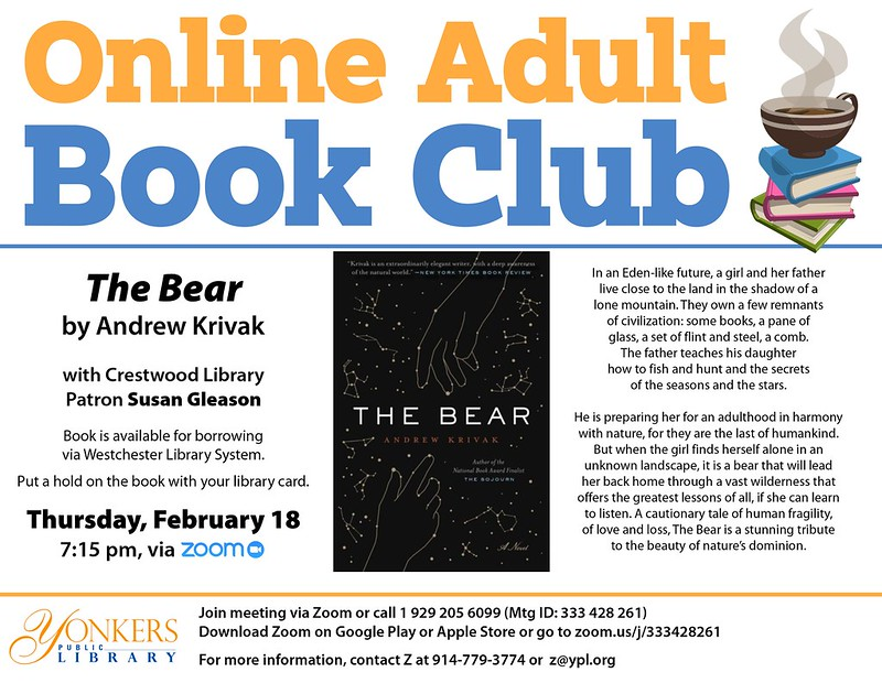 Adult Online Book Club: The Bear by Andrew Krivak image