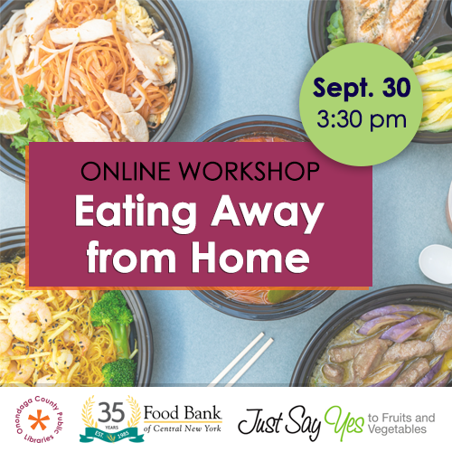 Online Workshop: Eating Away from Home  image